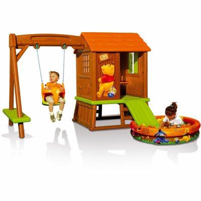 cabane portique winnie l 39 ourson smoby et oui c 39 est nous lol. Black Bedroom Furniture Sets. Home Design Ideas