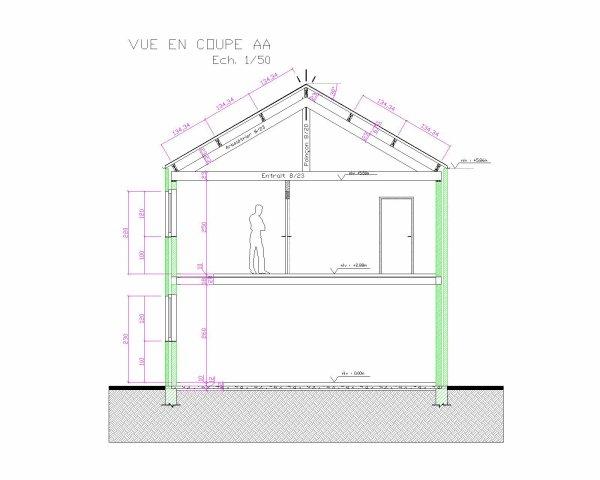 Autocad plan de maison vue toit blog de llgaetanll for Plan toiture maison