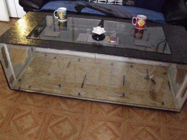 Fabrication Dune Table Basse Aquarium