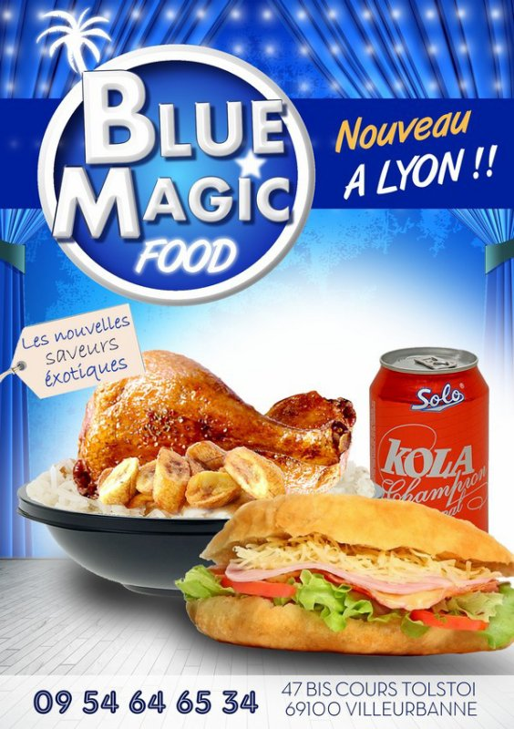 Blue Magic Food – Restaurant rapide Afro-Cr�oles